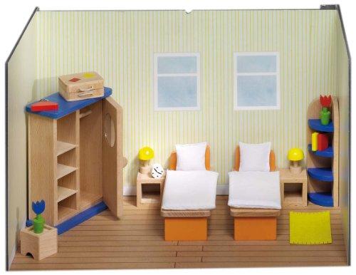Goki Puppenhaus-Schlafzimmer